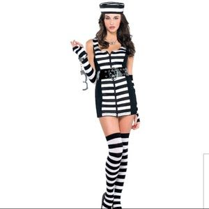 Guilty as charged prisoner costume medium 6/8